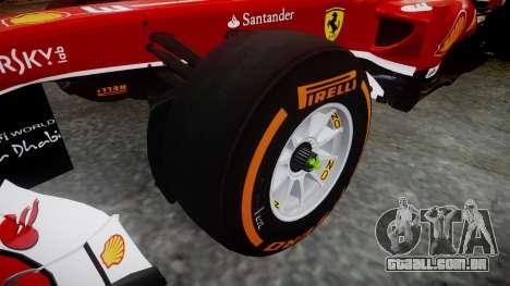 Ferrari F138 v2.0 [RIV] Alonso THD para GTA 4 vista de volta