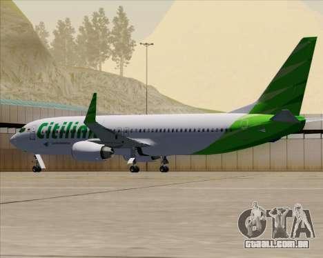 Boeing 737-800 Citilink para GTA San Andreas vista inferior