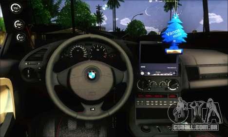 BMW E36 Stanced para GTA San Andreas traseira esquerda vista