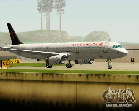 Airbus A321-200 Air Canada para GTA San Andreas vista inferior