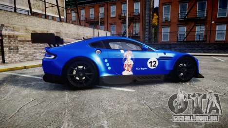 Aston Martin Vantage GTE Nico Yazawa para GTA 4 esquerda vista
