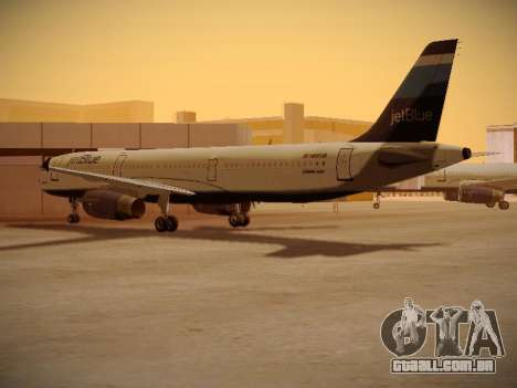 Airbus A321-232 Big Blue Bus para GTA San Andreas vista direita