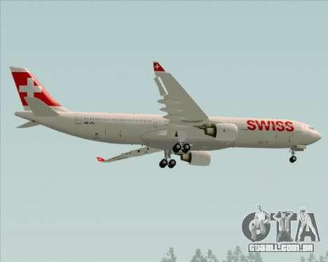 Airbus A330-300X Swiss International Air Lines para GTA San Andreas vista traseira