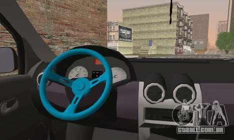 Dacia Logan 1.6 DJ para GTA San Andreas traseira esquerda vista