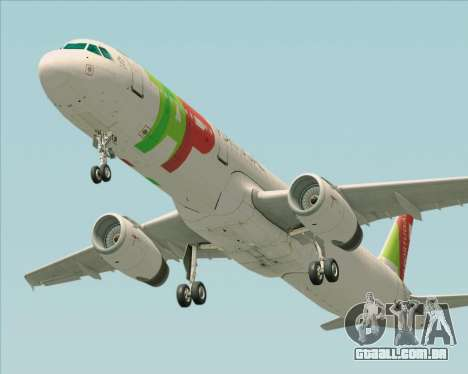 Airbus A321-200 TAP Portugal para GTA San Andreas vista traseira
