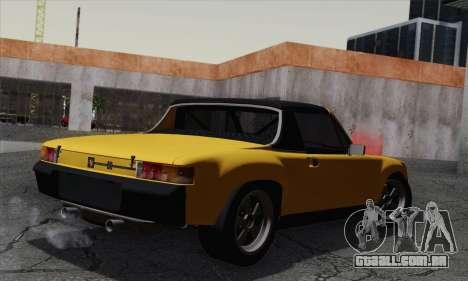 Porsche 914 para GTA San Andreas esquerda vista