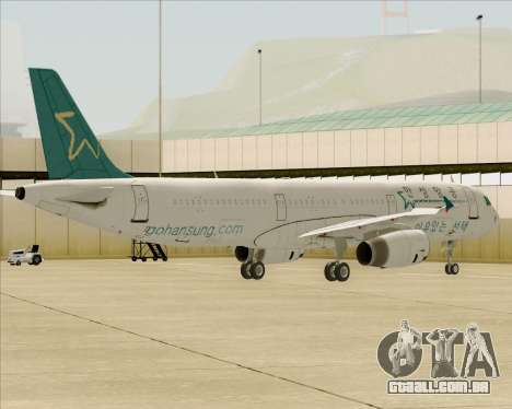 Airbus A321-200 Hansung Airlines para as rodas de GTA San Andreas