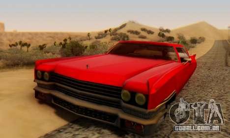 Cadillac Stella II para GTA San Andreas vista traseira