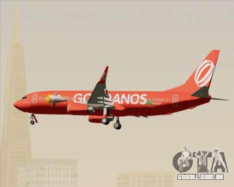 O Boeing 737-800 da Gol Transportes Aéreos para GTA San Andreas vista inferior