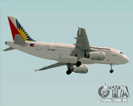 Airbus A319-112 Philippine Airlines para GTA San Andreas vista inferior