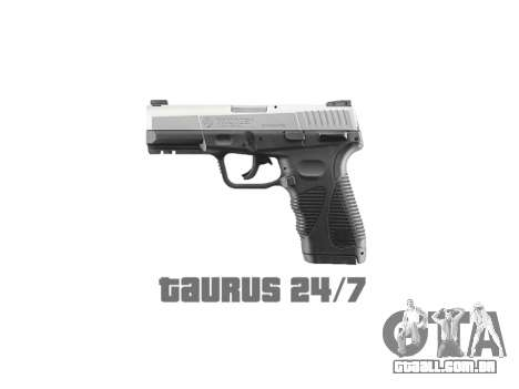 Pistola Taurus 24-7 de titânio icon1 para GTA 4 terceira tela