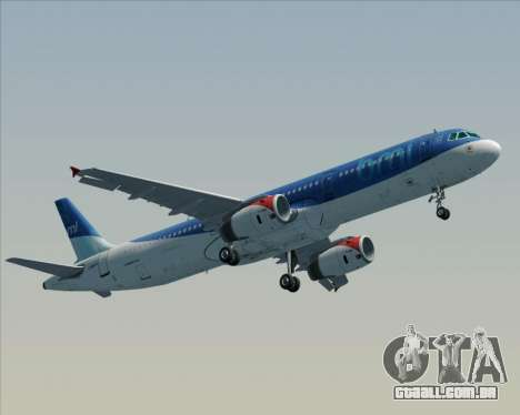 Airbus A321-200 British Midland International para GTA San Andreas vista direita