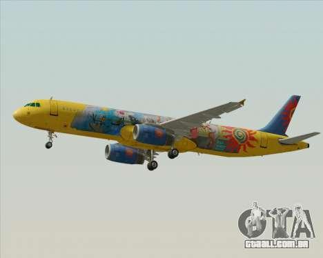 Airbus A321-200 para GTA San Andreas vista superior