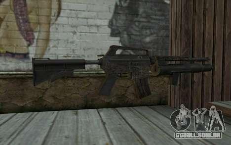 CAR-15 with XM-148 from Battlefield: Vietnam para GTA San Andreas segunda tela