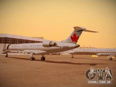 Bombardier CRJ-700 Air Canada Express para GTA San Andreas vista interior