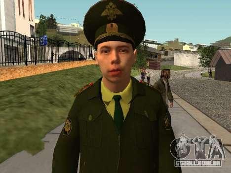 O Tenente Sokolov para GTA San Andreas segunda tela