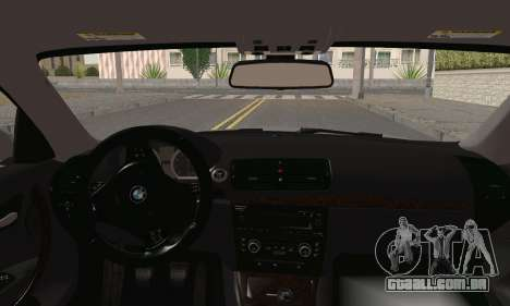 BMW 135i 2009 para GTA San Andreas traseira esquerda vista