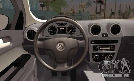 Volkswagen Saveiro Slammed para GTA San Andreas traseira esquerda vista