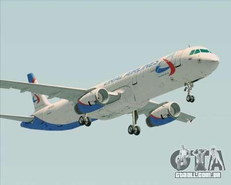 Airbus A321-200 Ural Airlines para GTA San Andreas vista traseira