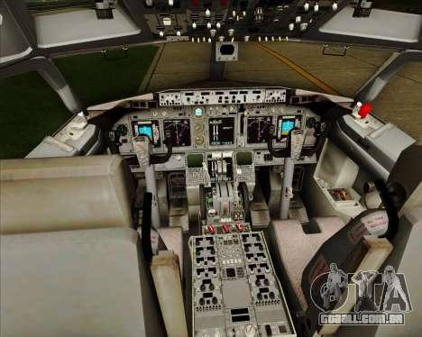 Boeing 737-838 Qantas (Old Colors) para GTA San Andreas interior