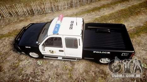 Chevrolet Silverado SWAT [ELS] para GTA 4 vista direita