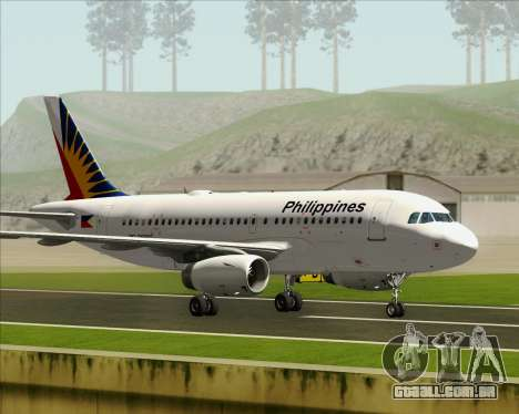 Airbus A319-112 Philippine Airlines para GTA San Andreas vista interior