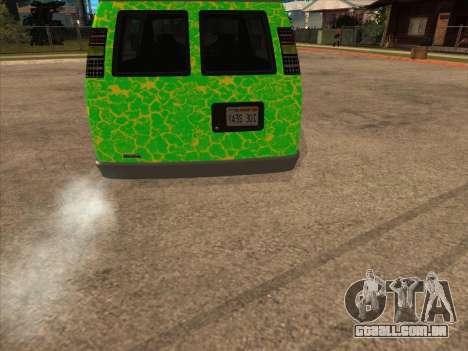 Bravado Paradise para GTA San Andreas traseira esquerda vista