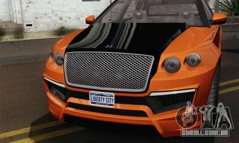 Huntley S (IVF) para GTA San Andreas traseira esquerda vista