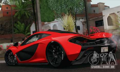 McLaren P1 HQ para GTA San Andreas esquerda vista