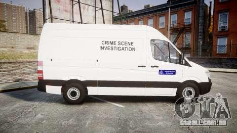 Mercedes-Benz Sprinter 311 cdi London Police para GTA 4 esquerda vista