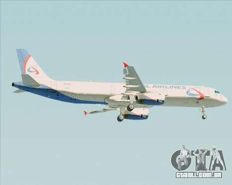 Airbus A321-200 Ural Airlines para GTA San Andreas vista direita