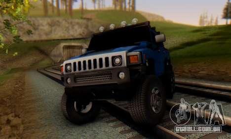 Hummer H6 Sut Pickup para GTA San Andreas esquerda vista