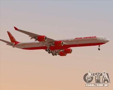 Airbus A340-600 Air India para as rodas de GTA San Andreas