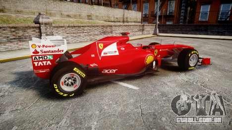 Ferrari 150 Italia Alonso para GTA 4 esquerda vista