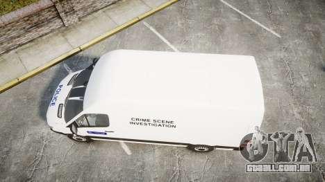 Mercedes-Benz Sprinter 311 cdi London Police para GTA 4 vista direita