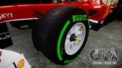 Ferrari F138 v2.0 [RIV] Massa TIW para GTA 4 vista de volta