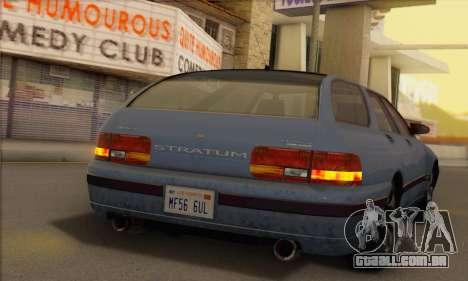 GTA 5 Stratum para GTA San Andreas traseira esquerda vista