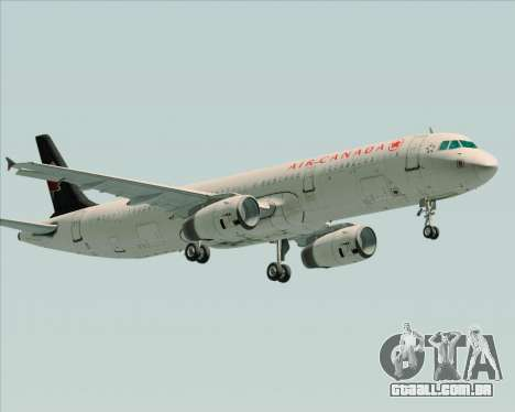 Airbus A321-200 Air Canada para GTA San Andreas vista interior