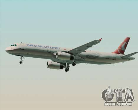 Airbus A321-200 Turkish Airlines para GTA San Andreas vista direita