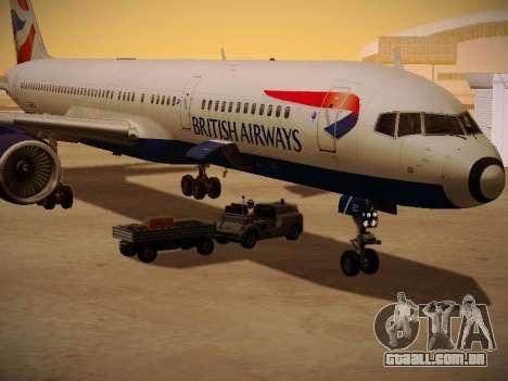 Boeing 757-236 British Airways para GTA San Andreas vista superior