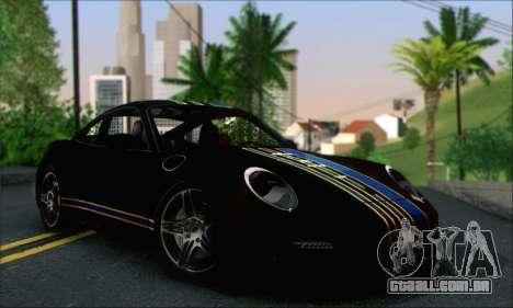 Porsche 997 Turbo Tunable para GTA San Andreas vista superior