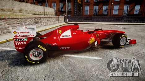 Ferrari 150 Italia Track Testing para GTA 4 esquerda vista