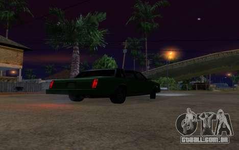 Tahoma Restyle para GTA San Andreas vista traseira