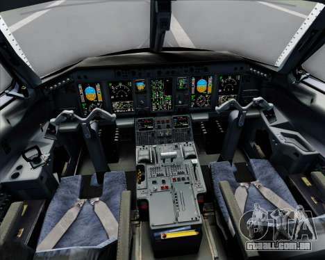 Embraer E-190 Virgin Blue para GTA San Andreas interior