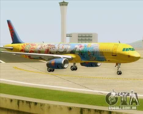 Airbus A321-200 para GTA San Andreas vista traseira