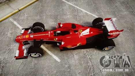 Ferrari F138 v2.0 [RIV] Alonso TMD para GTA 4 vista direita