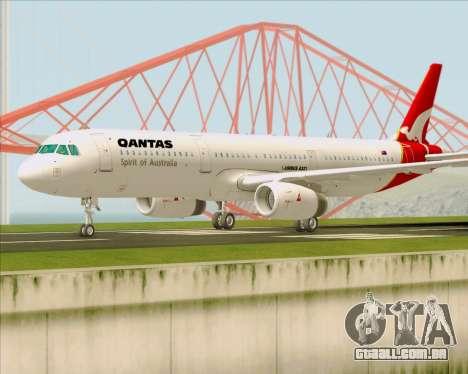 Airbus A321-200 Qantas para GTA San Andreas esquerda vista