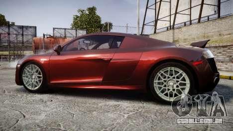 Audi R8 2010 Rotiform BLQ para GTA 4 esquerda vista