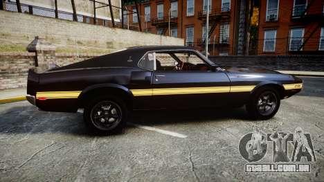 Shelby GT500 428CJ CobraJet 1969 para GTA 4 esquerda vista