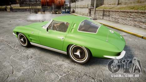Chevrolet Corvette Stingray 1963 para GTA 4 esquerda vista